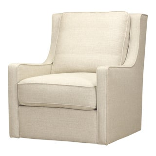 Spectra Home Track Arm Linen Swivel Chair