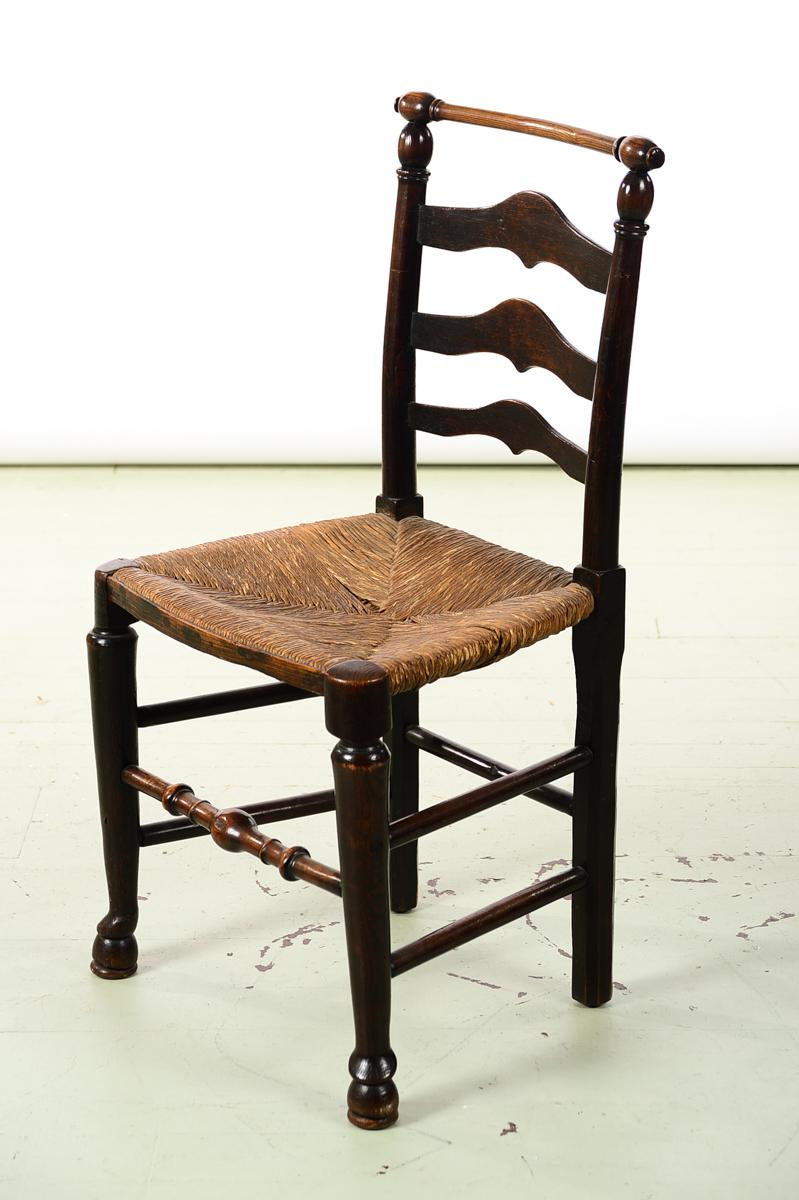 Awesome 18th Century Set Of 4 Fabulous Country Carved Ladder Back Chairs   Image 3  Of 8