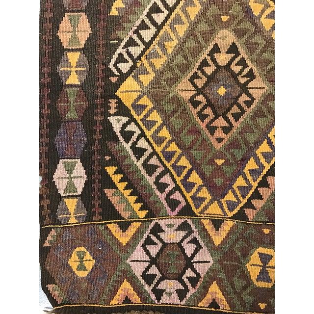 Vintage Anatolian Kars Kilim Rug - 4′8″ × 14′8″ - Image 3 of 8