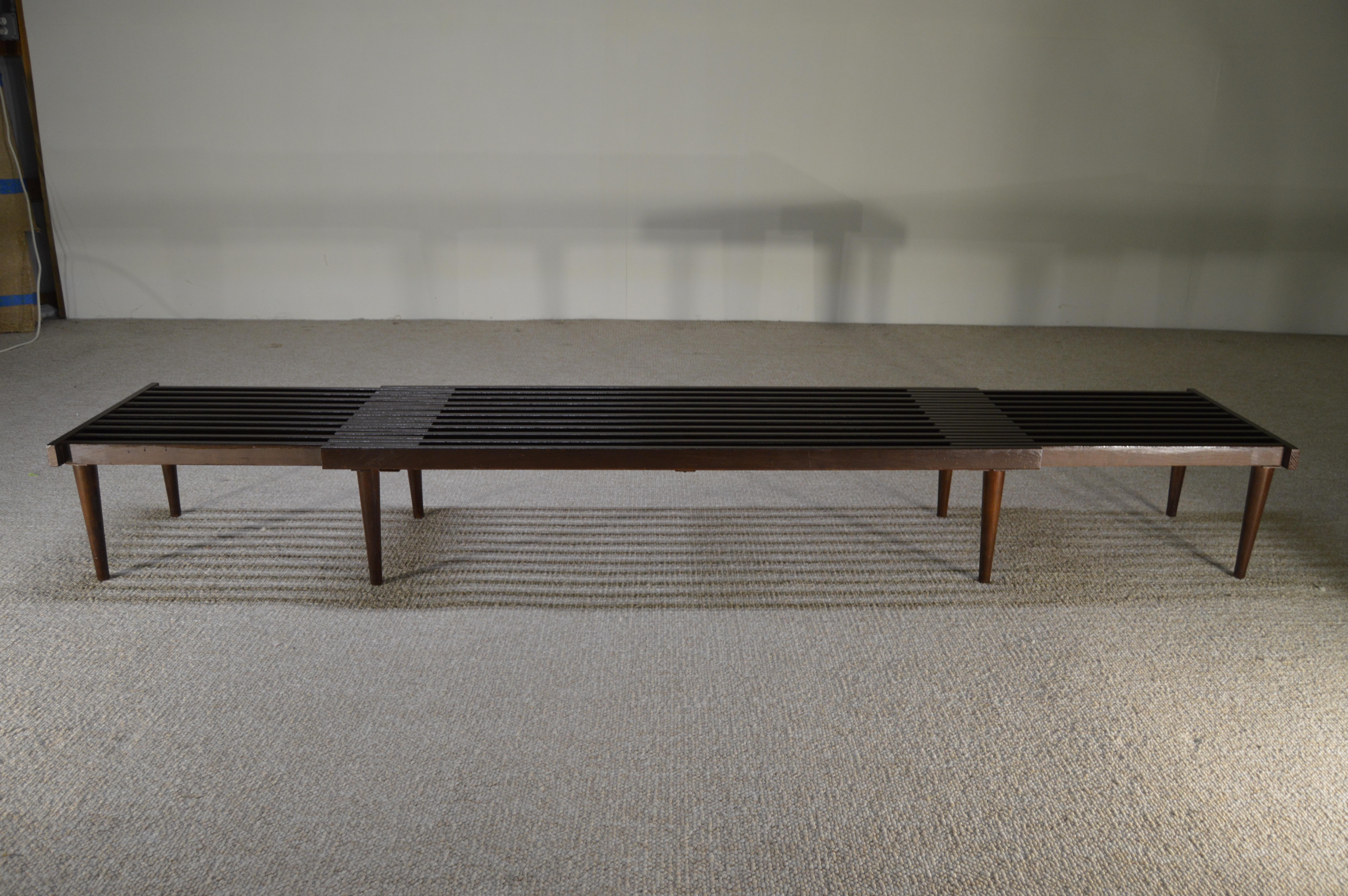 Brown Saltman Expandable Sliding Slat Bench   Image 2 Of 5