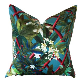 Christian Lacroix Tropical Fabric Pillow
