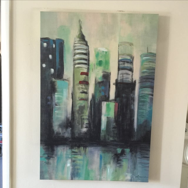 Twilight Cityscape on Canvas - Image 8 of 11