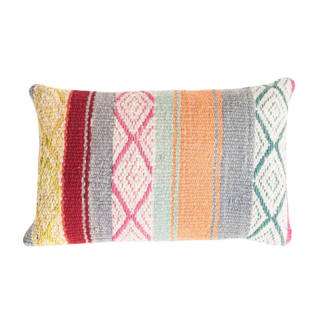 Pastel Peruvian Frazada Pillow - Image 1 of 4
