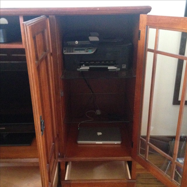 Wooden Entertainment Center - Image 6 of 6