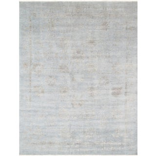 Pasargad's Transitiona Gray Wool Rug- 10' x 14'