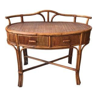 Bohemian Oval Bamboo Desk
