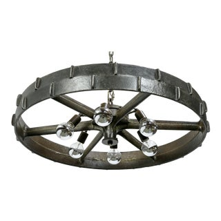 Industrial Steel Wheel Chandelier