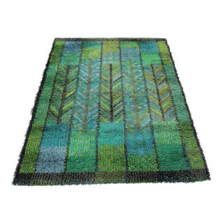 "Marianne Richter Swedish Rya Carpet - 5'4"" x 7'7"""