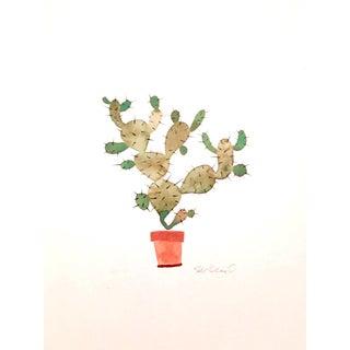Fall Cactus Watercolor