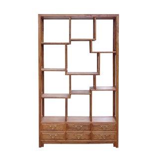 Rosewood 8 Treasure Curio Display Cabinet Divider