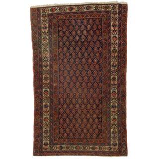 Hand-Knotted Wool Persian Malayer Rug - 4′3″ × 6′1