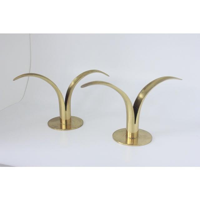 Ystad Metall Swedish Brass Candlesticks- A Pair - Image 7 of 8