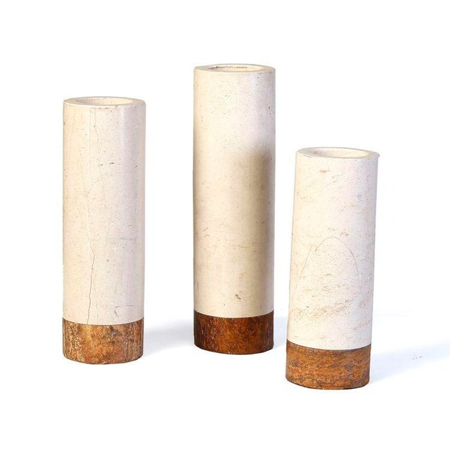 Image of Set of 3 Marble Candle Holders