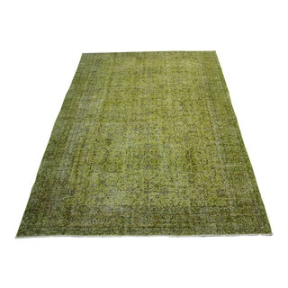 "Turkish Green Overdyed Rug - 6'7"" x 10'"