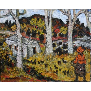 20th Century Impressionist Country Landscape Painting by Sacha Moldovan