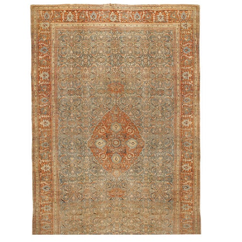 Image of Antique Oversize 19th Century Persian Tabriz Carpet