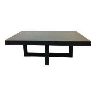 Contemporary Black Cocktail Table + Glass