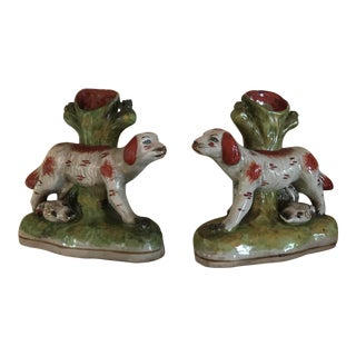Vintage Dog Spill Vases - A Pair