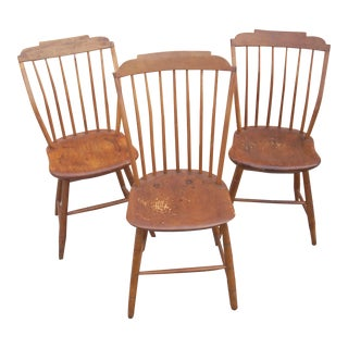 Primitive Windsor Side Chairs - Set of 3