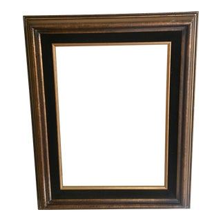 Black Velvet & Gold Wood Frame