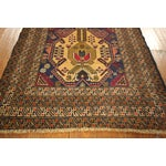 """Image of Navy Blue Tribal Afghan Balouch Rug - 3'1"""" x 9'2"""""""