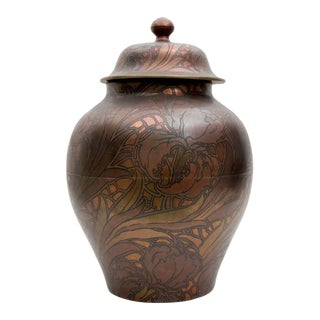 Massive Lidded Jar by Boch Freres Keramis