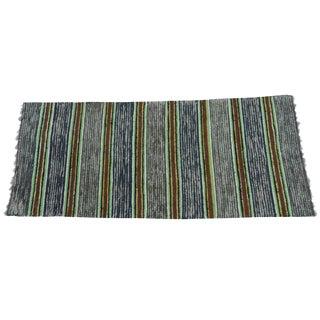 Swedish Hand-Woven Rag Rug - 2′6″ × 5′11″