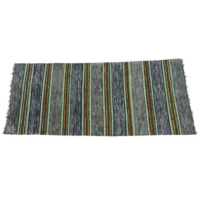 Image of Swedish Hand-Woven Rag Rug - 2′6″ × 5′11″