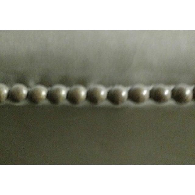 O. Henry House Tufted Leather Barstool - Image 4 of 4