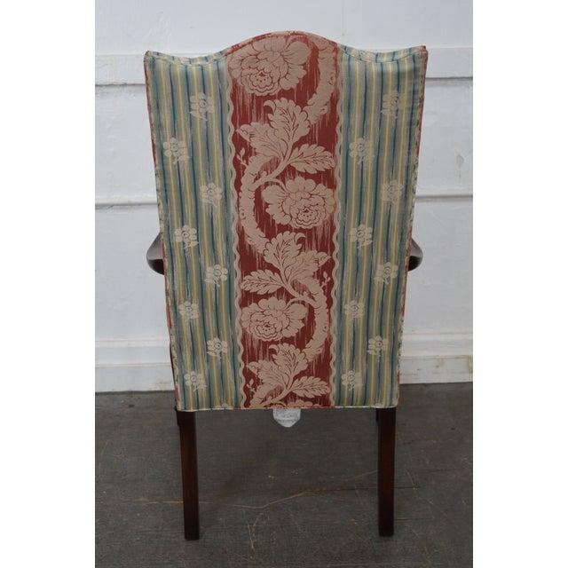 Wood & Hogan Custom Mahogany Inlaid Sheraton Style Lolling Chair - Image 4 of 10