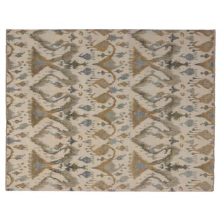 "Modern Transitional Ikat Rug - 8'1"" X 10'4"""