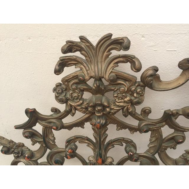 Baroque-Style Metal King Headboard - Image 4 of 6