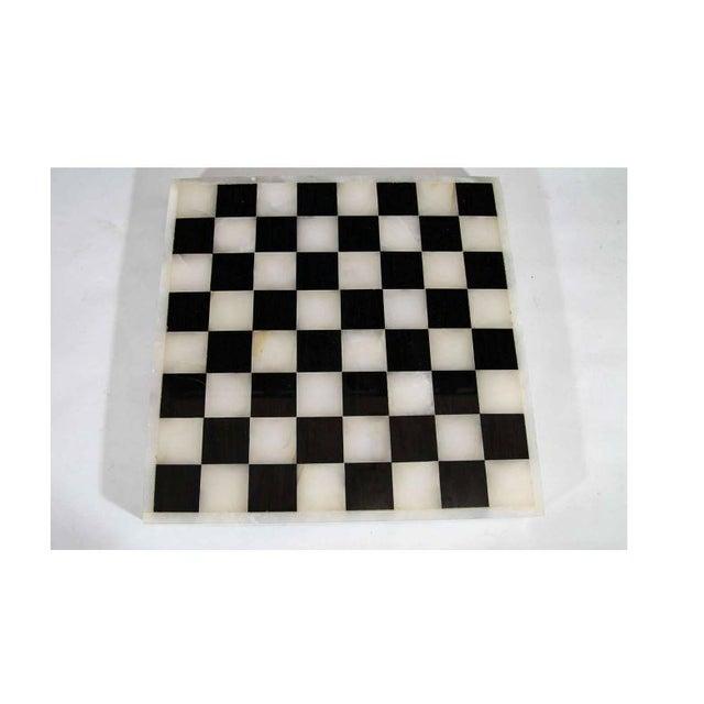 Image of Italian Black & White Chess, Backgammon, & Tic-Tac