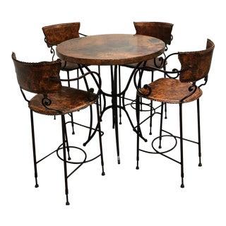 Arhaus Round Bar Table & Barstools