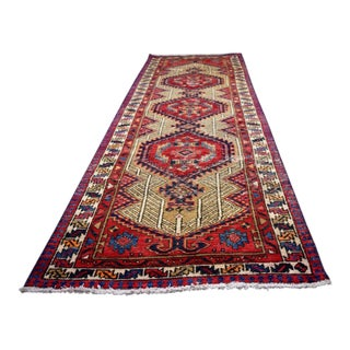"""Vintage Persian Runner Rug Hand Knotted 100% Wool Pile Rug - 2'5""""X10'"""