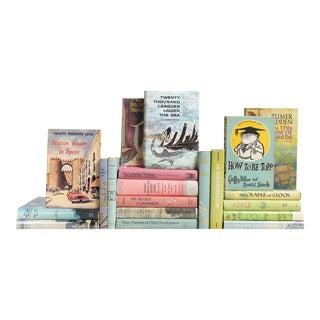 Mid-Century Pastel Dust Jacket Books - Set of 20