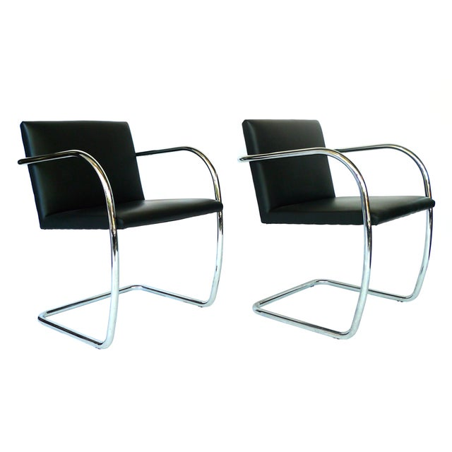Ludwig Mies Van Der Rohe Brno Chairs - A Pair - Image 1 of 8