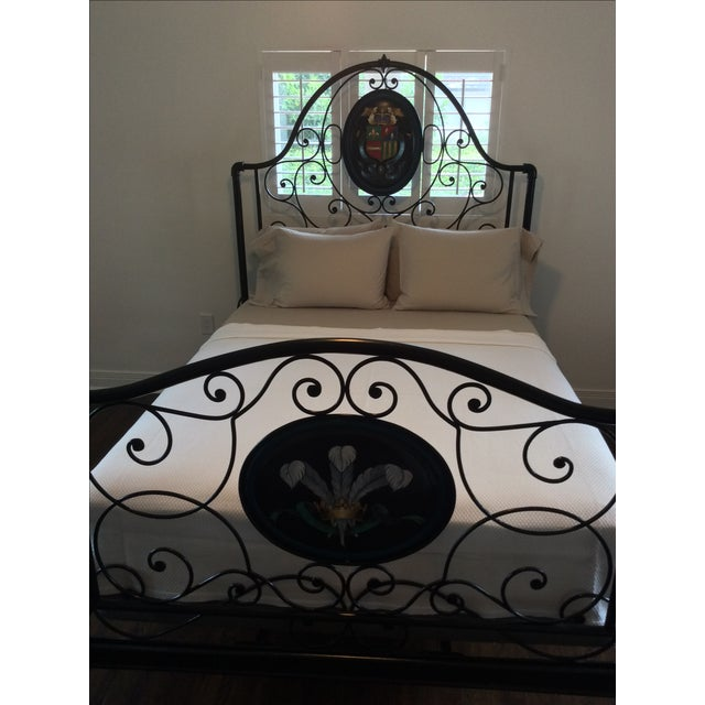 Ornate Iron Queen Size Bed - Image 5 of 5