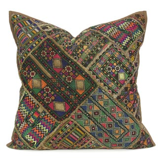 Rainbow Tribal Jaislmer Pillow