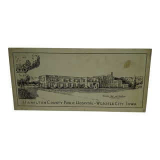 Vintage Sign of Hamilton County Public Hospital, Webster City, Iowa