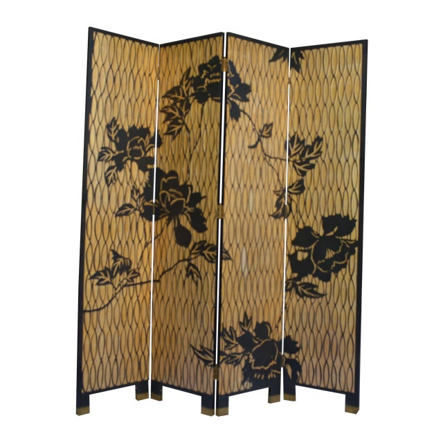 1960s Japanese 4 Panel Screen - Image 1 of 8