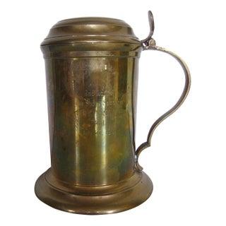 Vintage Brass Regatta Trophy Stein Tankard