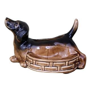 Vintage Ceramic Dachshund Container