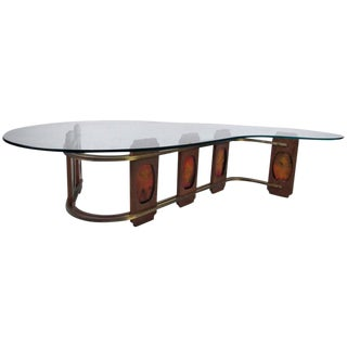 Mid-Century Style Kidney Shaped Coffee Table