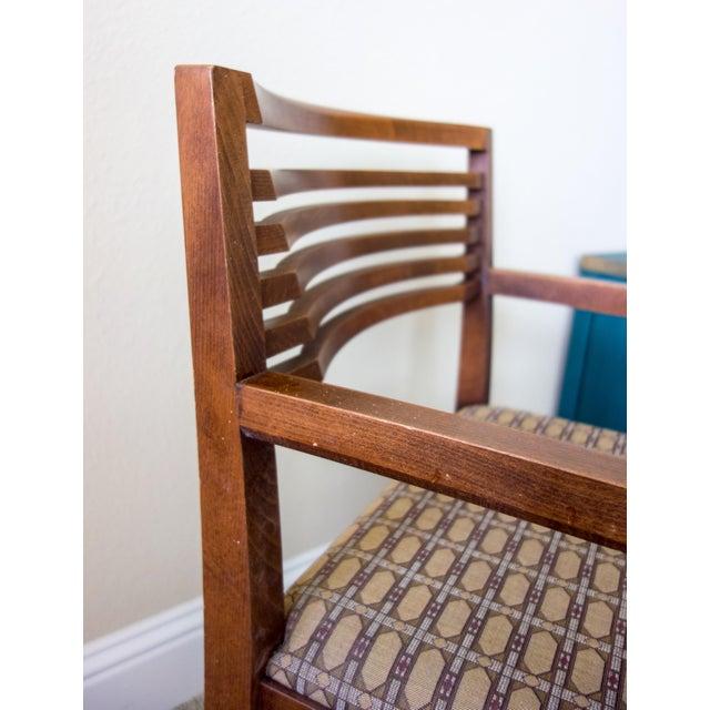Knoll Vintage Ricchio Walnut Chair - Image 3 of 8