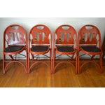 Image of Louis Rastetter Red Folding Chairs- Set of 4