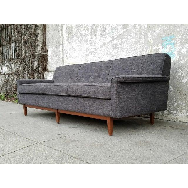 Image of Gray Mid-Century Style Sofa