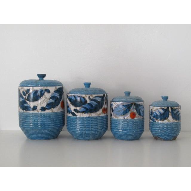 Bitossi italian kitchen canisters set of 4 chairish for Italian kitchen set