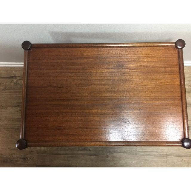 Vintage Modern Wood Bar Cart - Image 4 of 4
