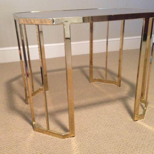 Glass & Brass Side Table - Image 3 of 7